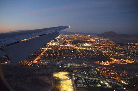 Lande-Anflug Las Vegas